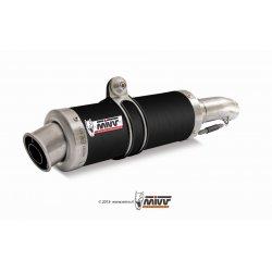 Silencieux MIVV GP APRILIA RSV1000 04-08 / TUONO 1000 06-10 (Steel Black)