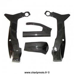 Pack protections de cadre et bras oscillant Carbone KAWASAKI ZX-6R 07-08