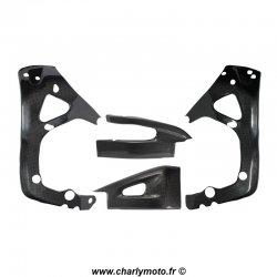 Pack protections de cadre et bras oscillant Carbone HONDA CBR600RR 07-16
