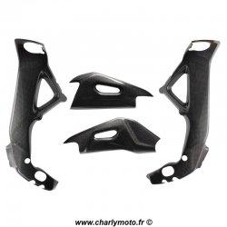 Pack protections de cadre et bras oscillant Carbone APRILIA RSV4 09-18