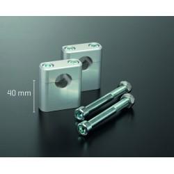 Pontets de rehausse ABM - 40mm - Vis centrale M10