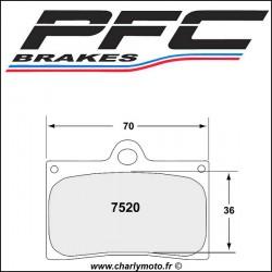 Plaquettes de frein PFC Carbone 7520 - TYPE 13 - COMPETITION