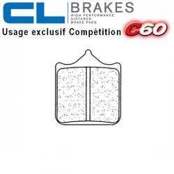 Plaquettes de frein CL BRAKES 1033C60 DUCATI 998 - S 02-03 (Avant) (Etrier 04 plaquettes)