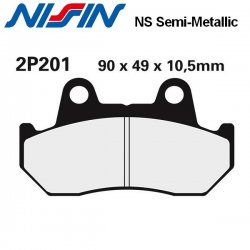 Plaquettes de frein NISSIN 2P201NS HONDA GL1200 DX GOLD WING 83-87 / GL1200 GOLD WING 84-87 (Avant)