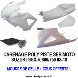 Carénage SEBIMOTO SUZUKI GSX-R 600 08-10 / GSX-R 750 08-10 (Pack Racing)