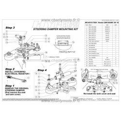 * DESTOCKAGE - Kit de fixation d'amortisseur de direction HYPERPRO HONDA CBR 1000 RR 08-16 - COLORIS OR