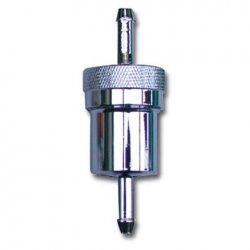 Filtre à essence rond alu démontable BIHR - Longueur 75mm