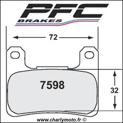 Plaquettes de frein PFC Carbone 7598 - TYPE 13 - COMPETITION