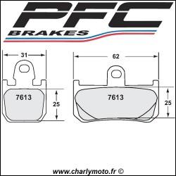 Plaquettes de frein PFC Carbone 7613 - TYPE 95 - ROUTE ET CIRCUIT