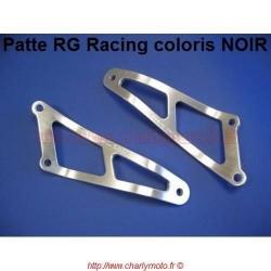 Patte de silencieux R&G RACING APRILIA RSV 1000 98-03 (Noir - 02 pots)